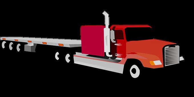 Big Truck, Eighteen Wheeler, Tractor And Trailer