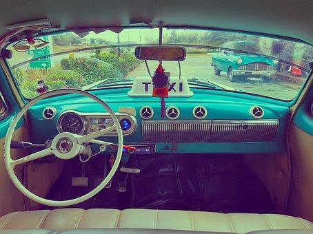 Car, Old, Retro, Taxi, Cuba, American, Chevrolet, Cuban