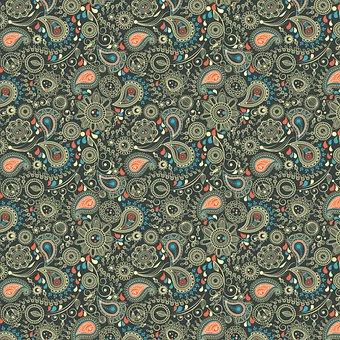 Paisley Digital Background, Digital Paper, Pattern