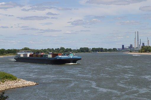 Ship, Frachtschiff, Shipping, Rhine