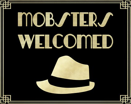 Mobsters Welcome Sign, Gold Foil Men's Hat, Gatsby