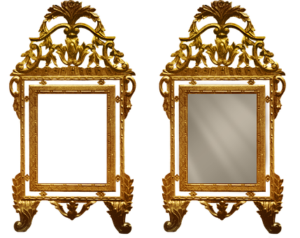 Vintage, Antique, Frame, Mirror, Gold, Picture Frame