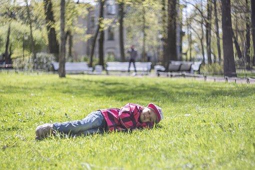 Kids, Happiness, Love, Spring, Grass, St Petersburg