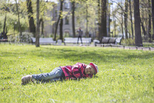 Kids, Happiness, Love, Spring, Grass
