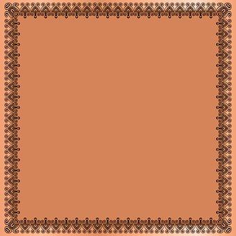 Henna Digital Paper, Frame, Henna, Art Deco