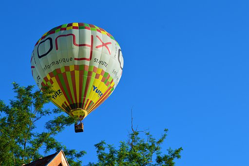 Ball, Hot-air Ballooning, Colorful, Transport