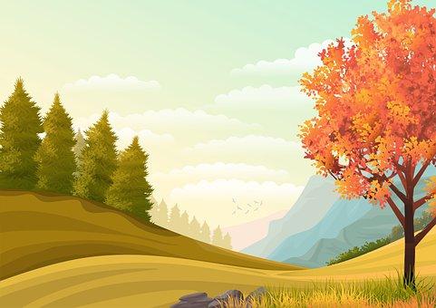 Background, Illustration, Wallpaper, Landscape, Nature
