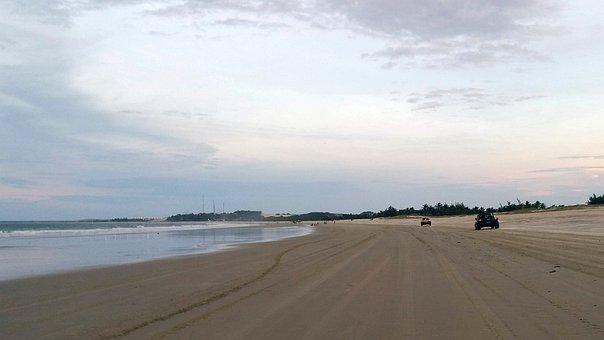 Road, Beach, Sky, Sea, Landscape, Sand, Highway, Buggy