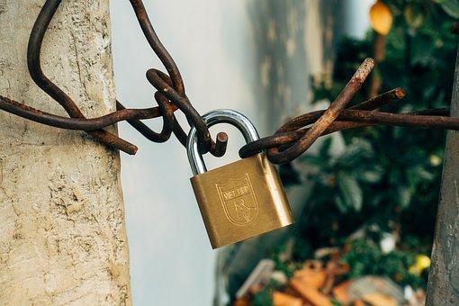 Castle, Padlock, Security, Love, Love Castle, Closed