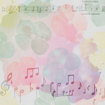 Digital Paper, Musical Notes, Watercolor, Notes, Music