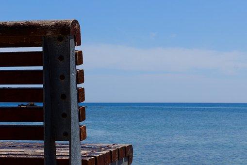 Bench, Sea, Seascape, Ocean, View, Nature, Outside