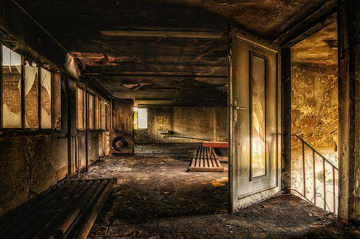 Abandoned Places, Pforphoto, Atmosphere, Door, Old