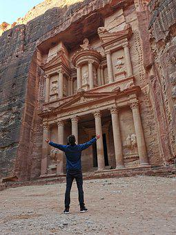 Petra, Jordan, Desert, Rock, Ancient, Stunning, Wonder
