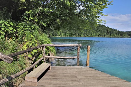 Plitvice, Green Park, Lake, Relaxation, Bench, Quiet
