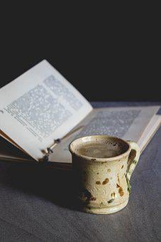 Coffee, Book, Reading, Home, Cozy, Cup, Table, Mug