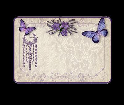 Vintage, Shield, Etiquette, Lavender, Ornaments, Frame