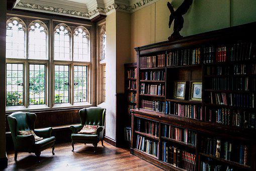 Library, Setup, Books, Read, Stately, Interior Design