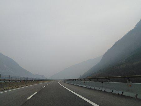 Fog, Road, Street, Foggy, Landscape, Lost, Italy