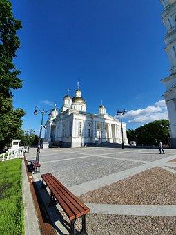 Russia, Penza, Church, Cathedral, Temple, Dome, Area