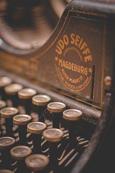 Typewriter, Writing, Text, Writer, Old, Retro, Machine