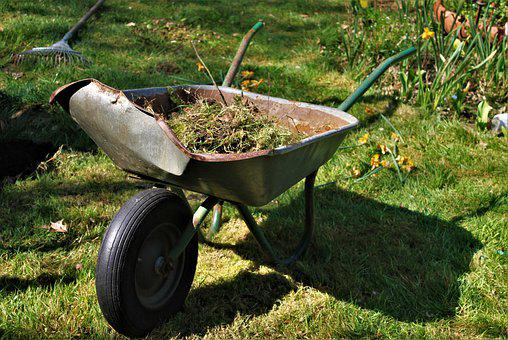 Wheelbarrow, Old, Garden, Gardening, Tool, Tools, Wheel