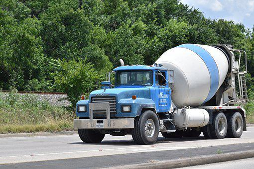 Cement Truck, Concrete, Construction, Building, Workers