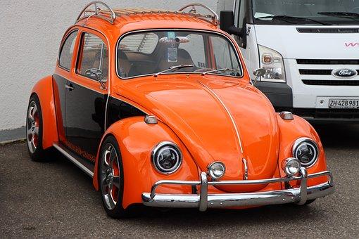Vw, Beetle, Auto, Oldtimer, Volkswagen, Vehicle