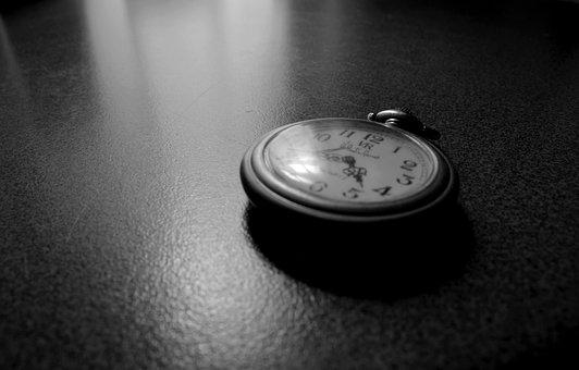 Clock, Watches, Time, Black And White