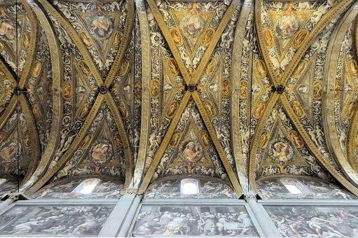 Italy, Parma, Cathedral, Nave, Arcades