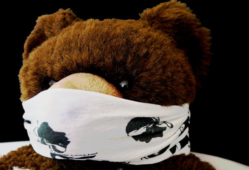 Teddy, Corona, Protection, Distance, Risk, Mask