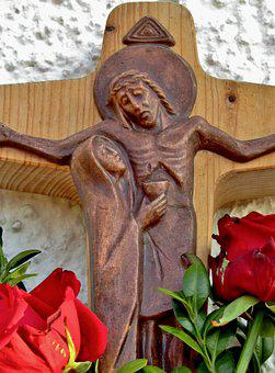 Cross, Good Friday, Jesus, Maria, Cup, Book, Roses, Red