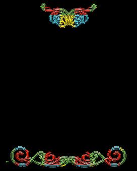 Colorful, Dividers, Borders, Design, Ornate, Filigree