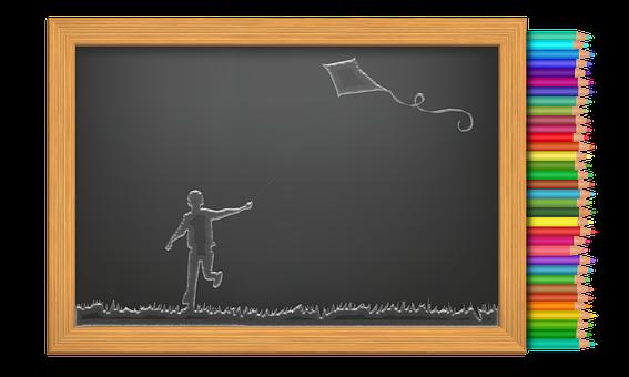 Kite, Kid Playing, Drawing, Children, Kids, Child, Play