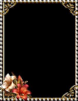 Lace Frame, Frame, Metal Frame, Gemstones, Ornate