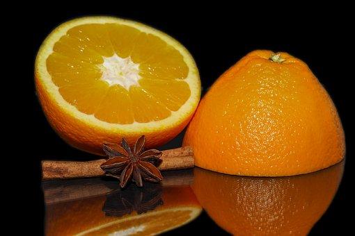 Orange, Anise Star, Anise, Spice, Cinnamon Stick, Fruit
