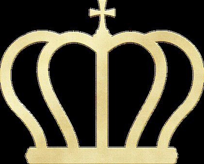 Gold Foil Crown, Tiara, Crown, Queen