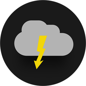 Flash, Icon, Cloud, Storm, Thunderstorm, Weather