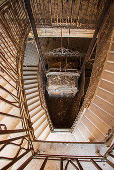Lift, Stairs Abandoned, Abandoned, Old, Lapsed, Past