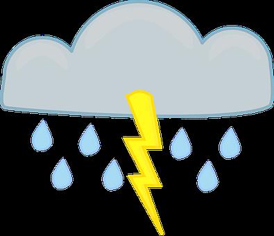 Thunderstorm, Lightning, Cloud, Gray, Thunderbolt, Rain