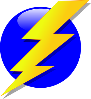 Bolt, Lightning, Electricity, Flash, Yellow, Blue Ball