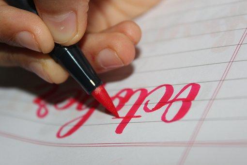 Paper, Pen, Writing, Notebook, Pink Pen, Handwriting