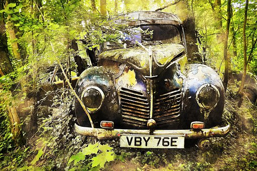 Auto, Car Cemetery, Old Timer, Old, Rust, Nostalgia
