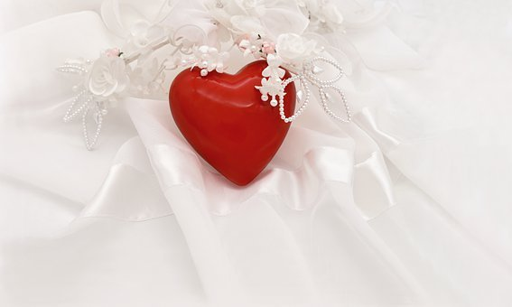 Red Heart, Bridal Jewelry, Wedding, Marry, Love, Tulle