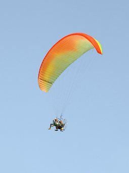 Paramotor, Skydive, Sky, Skydiving, People, Parachuting