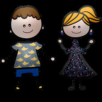 Stick Person, Boy, Girl, Children, Stick Figures