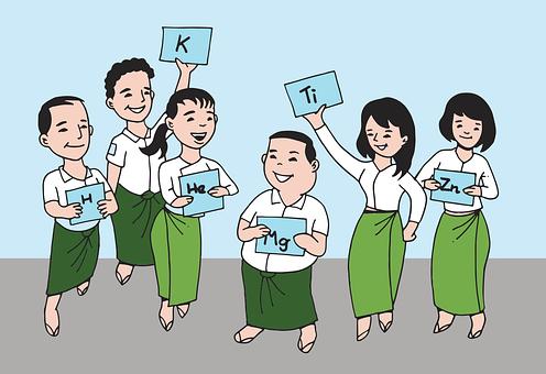 Myanmar, Teacher, Student, Class, Boy, Girl, Learn