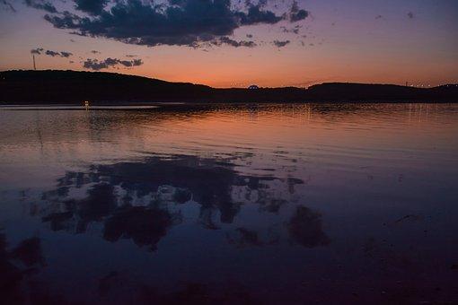 Background, Beach, Lake, Beautiful, Cloud, Dawn, Dusk