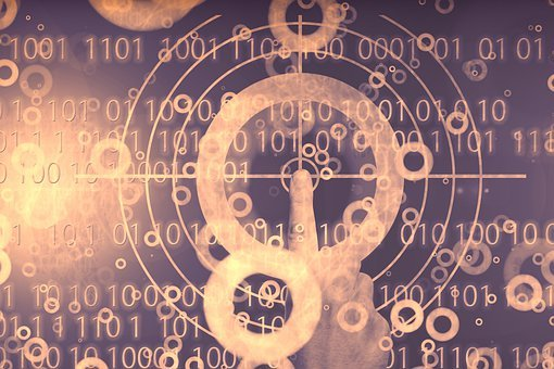 Digitization, Hand, Visor, Binary, Binary Code