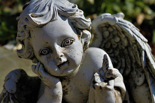 Angel, Cemetery, Hope, Mourning, Flake, Old, Memory