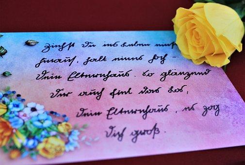 Sütterlin, Handwriting, Write, Poetry, Poetry Album